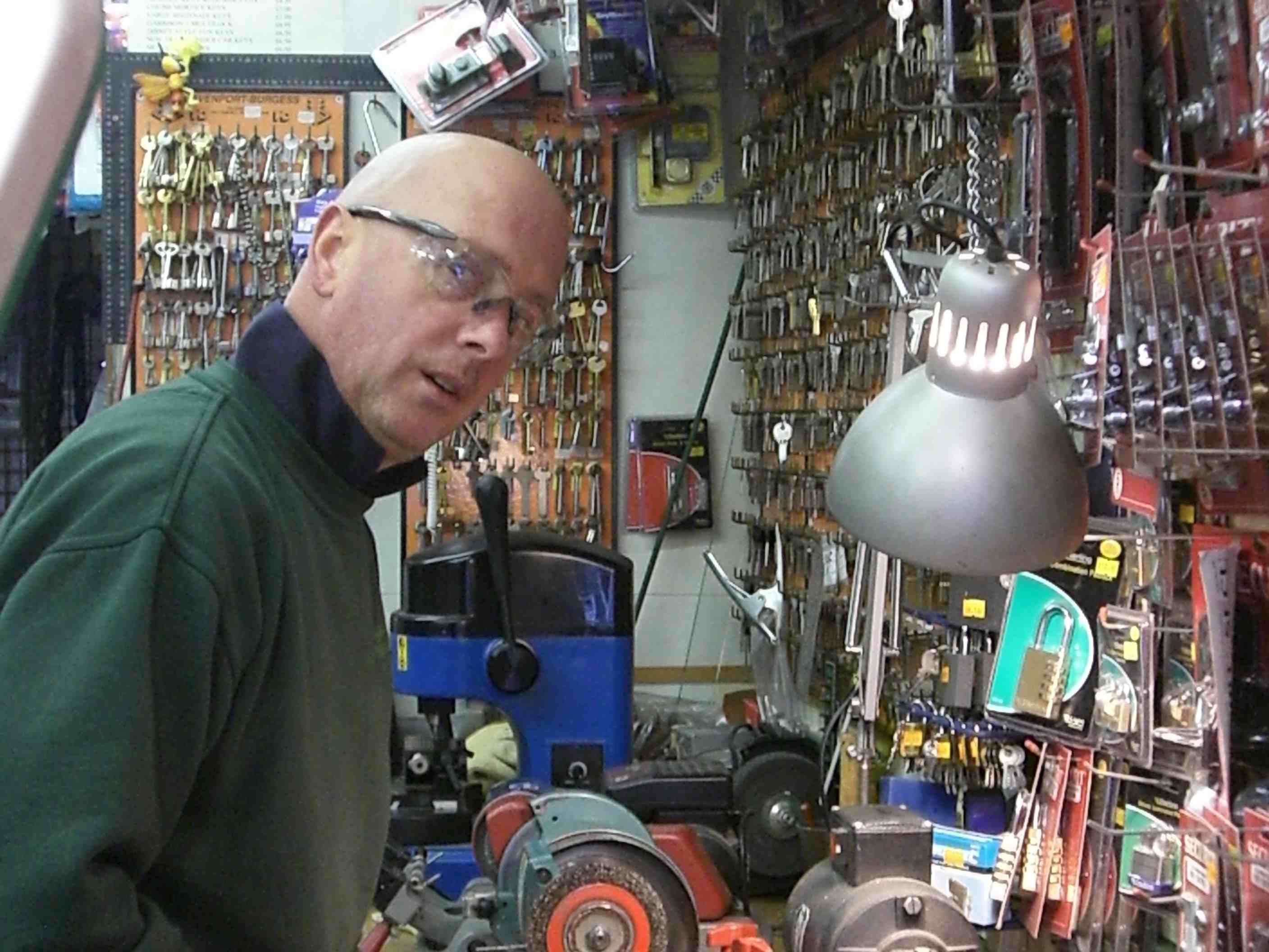 Dave Dubej in his shop