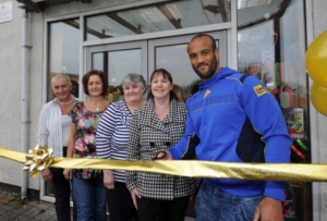 Jamie Jones-Buchanan opens the new Community Shop