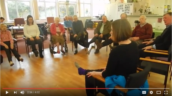 Watch a video of a yoga session at the Stroke Club