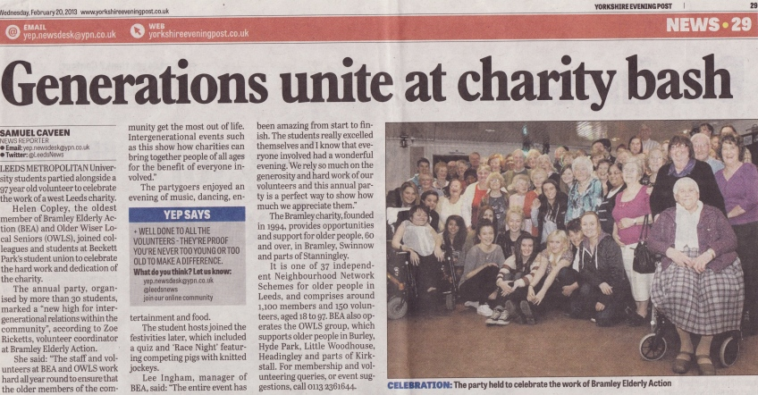 Generations unite at charity bash
