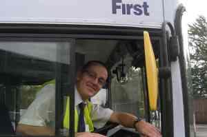 David Dutton in his cab