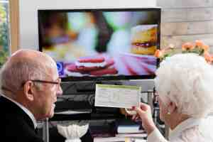 Older couple with free TV license