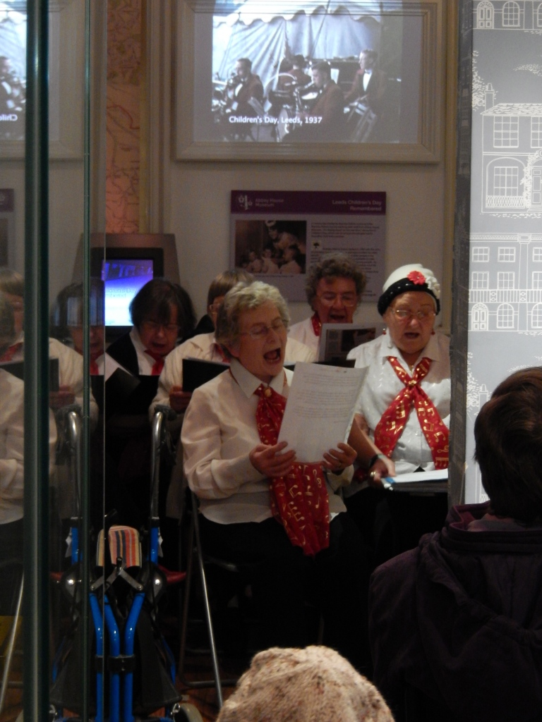 BEA singers performing at the Children's Day exhibition