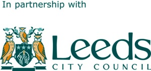 InPartnership with Leeds City Council logo