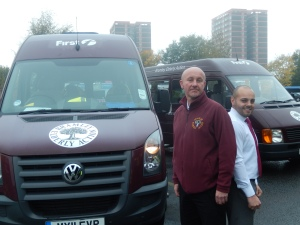 Lee Ingham with Liam Graham (First Bus)