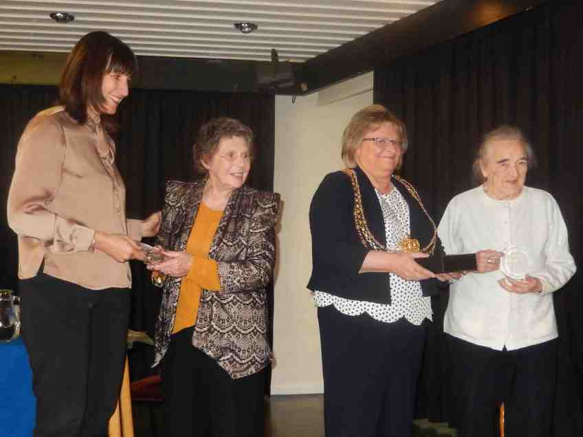 Sally and Rose receive long service awards
