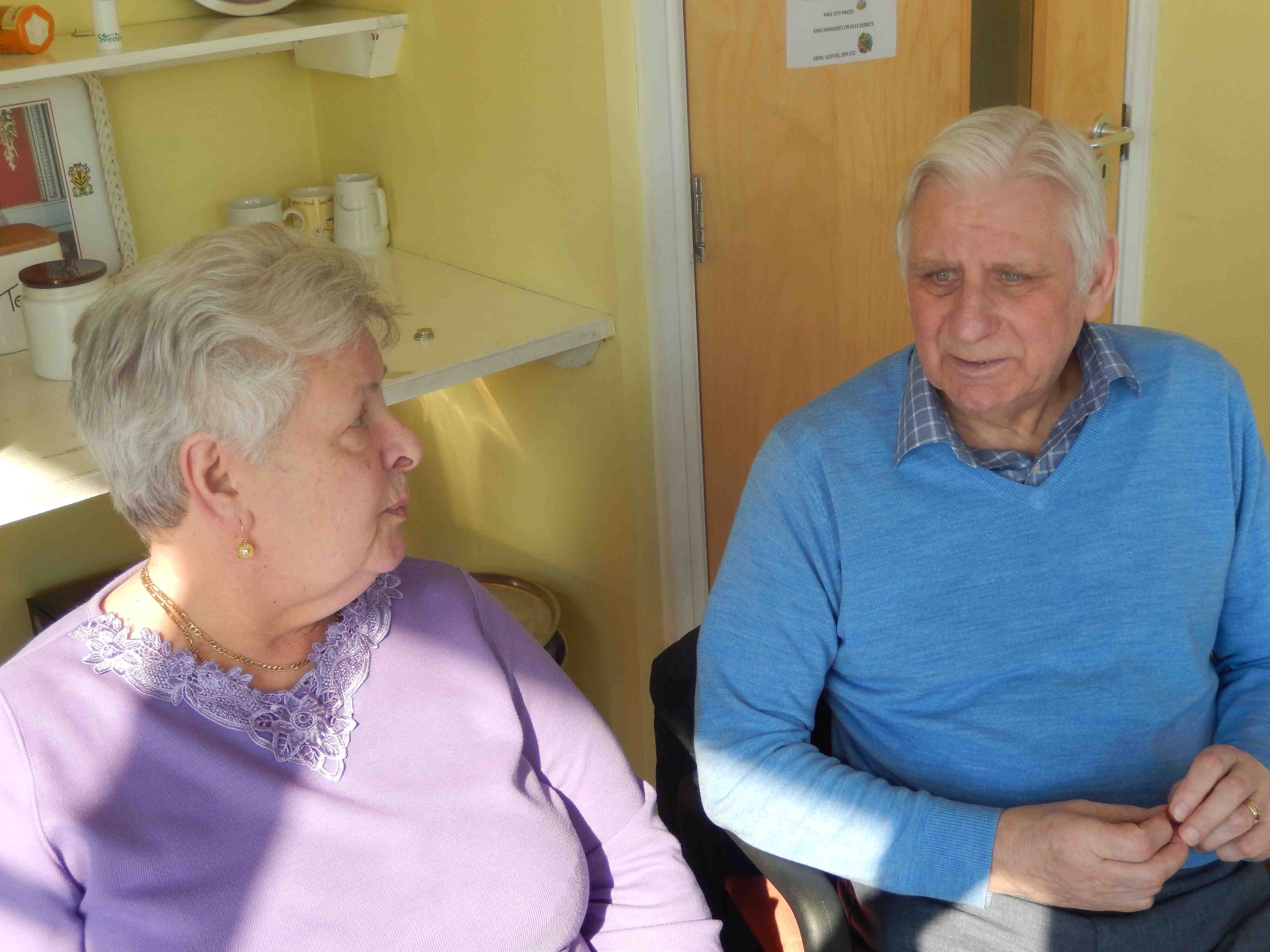 Friendship group volunteers Betty Steele and David Richardson