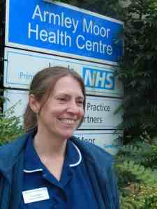 Claire Dearie at Armley Moor Health Centre