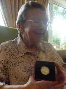 Betty Cole with medal