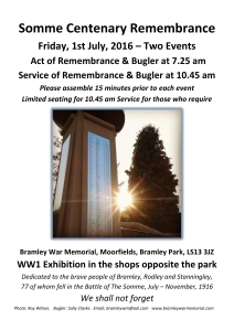 Somme Remembrance Poster