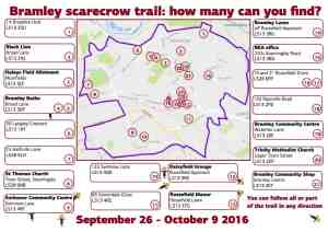 Bramley scarecrow trail map