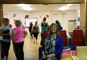 Bridget Murphy in the community centre hall