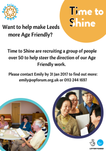 Age Friendly Steering Group flyer