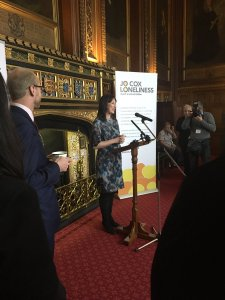 Rachel Reevs MP speaking at the launch of the Jo Cox Commission on Loneliness
