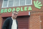 Philip McConnell outside Broadlea Community Centre