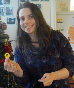 Zoe Ricketts draw a winning number