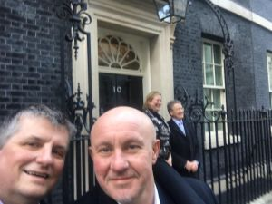 Bill Graham and Lee Ingham outside No.10