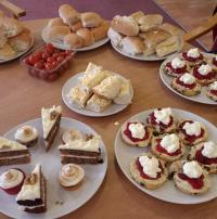 Cakes at a Remember Thursday tea