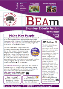 Image of front cover of BEAm Spring 2019